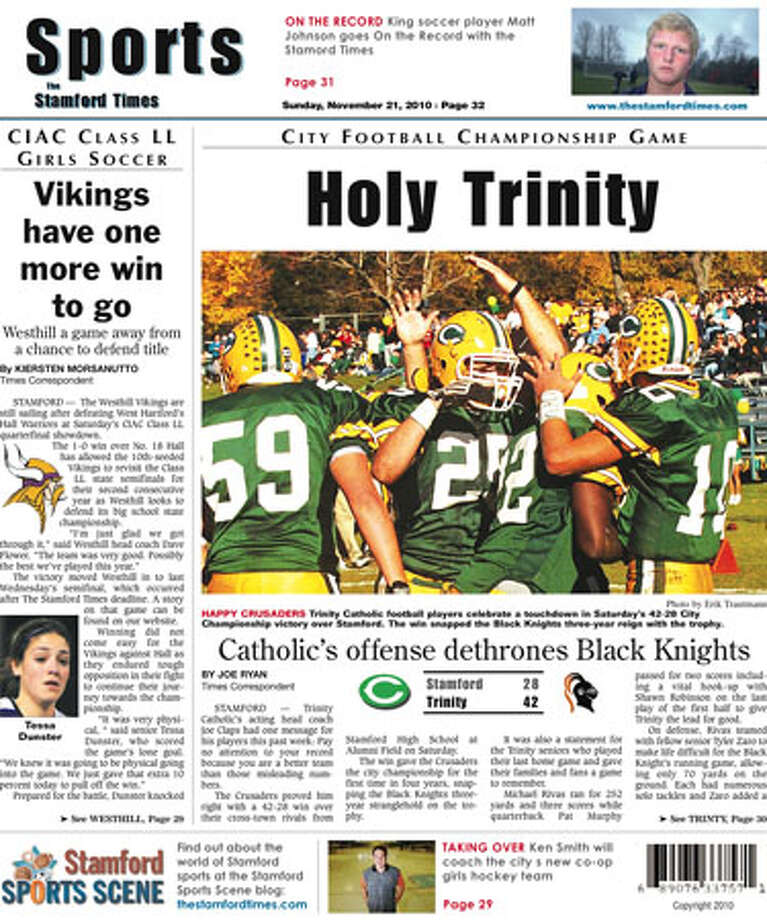 This week in The Stamford Times (November 21, 2010 edition)