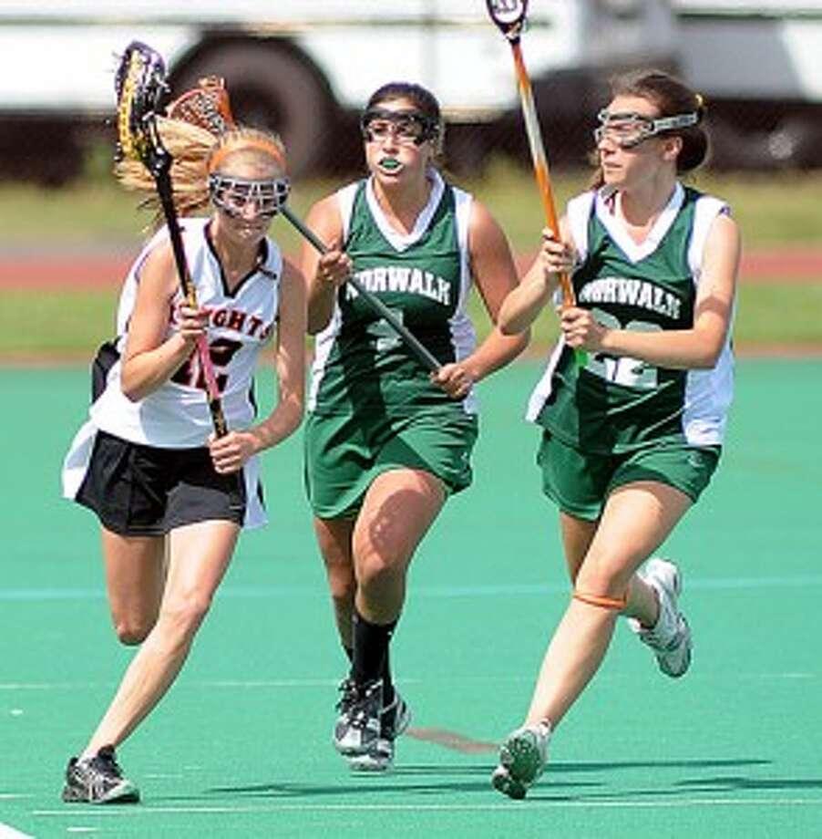 Black Knights girls lacrosse team gets 'clocked' against Norwalk