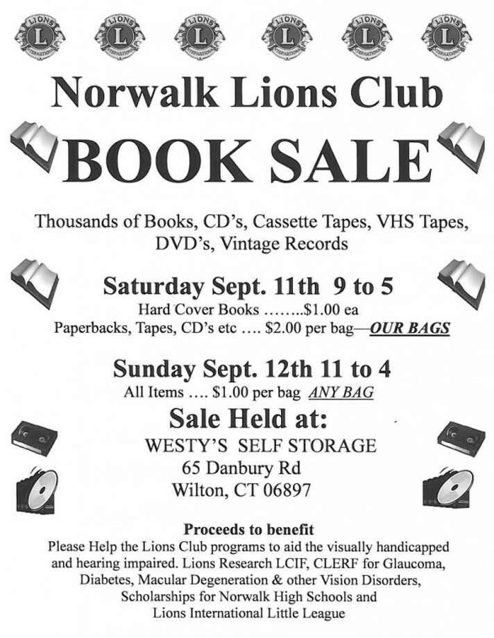 Lions Club Book Sale Flyer
