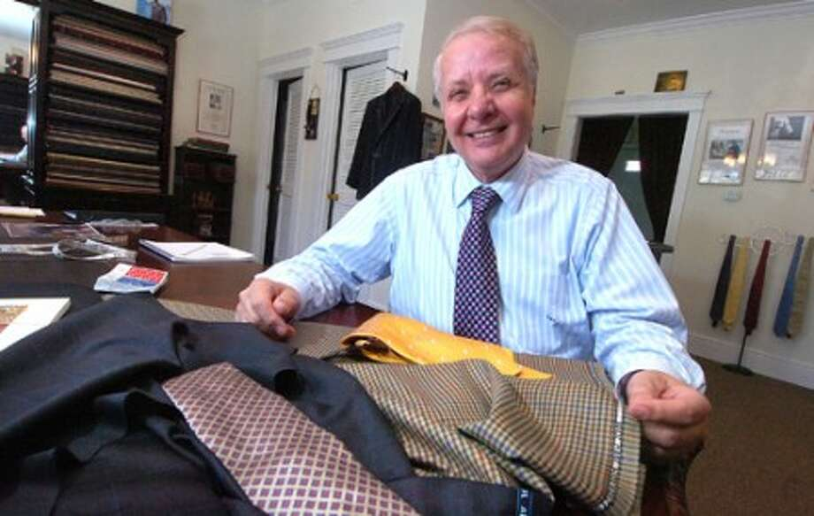 Photo/Alex von Kleydorff. Master Tailor Umberto Pitagora, 40 years in his Wilton Sartoria