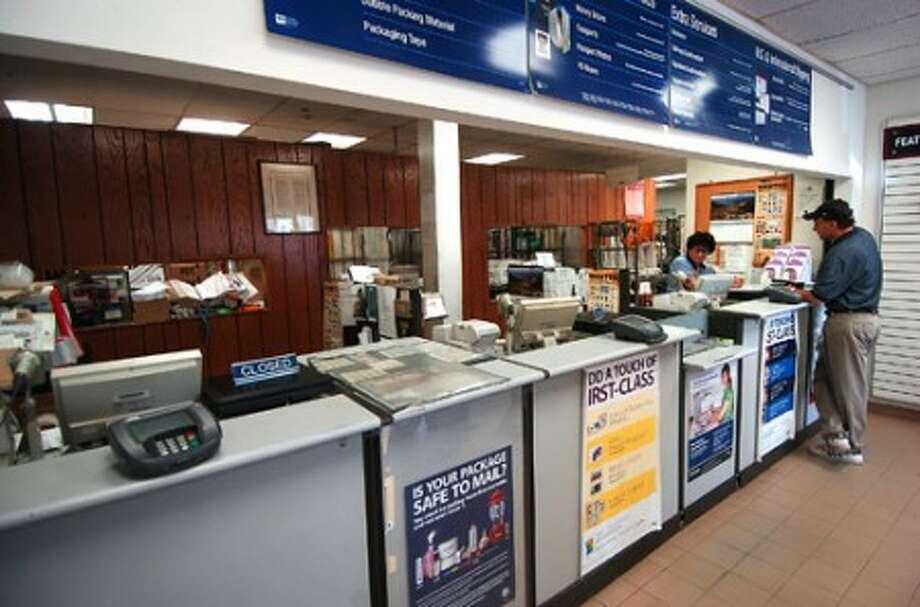 Photo/Alex von Kleydorff. The lobby of the Wilton Post Office, in Wilton Center