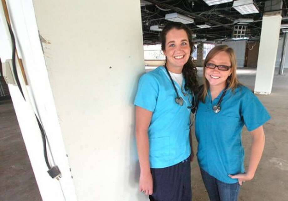 Photo/Alex von Kleydorff. Medical Assistant Megan O''Connell and Registered Nurse Jessica Wexler with The Center for Advanced Pediatrics recentley came back from Haiti.