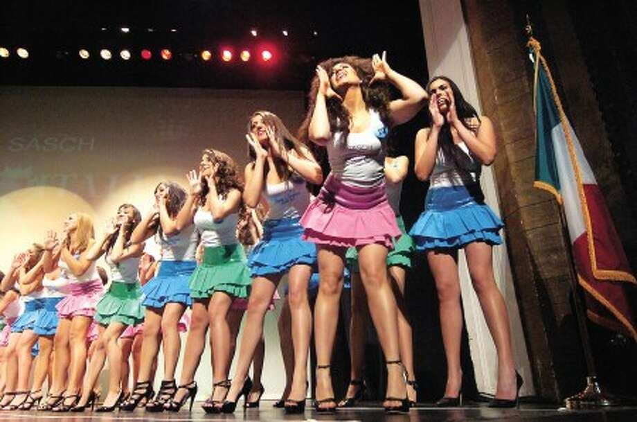 Photo/Alex von Kleydorff. Contestants sing and dance during a group performance in Miss Italia USA 2010 Sunday night at The Palace Theater in Stamford.