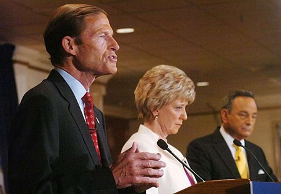 Democratic candidate for Connecticut Senator, attorney general Richard Blumenthal, answers questions during the senatorial debate at Continental Manor in Norwalk Thursday morning. Hour photo / Erik Trautmann