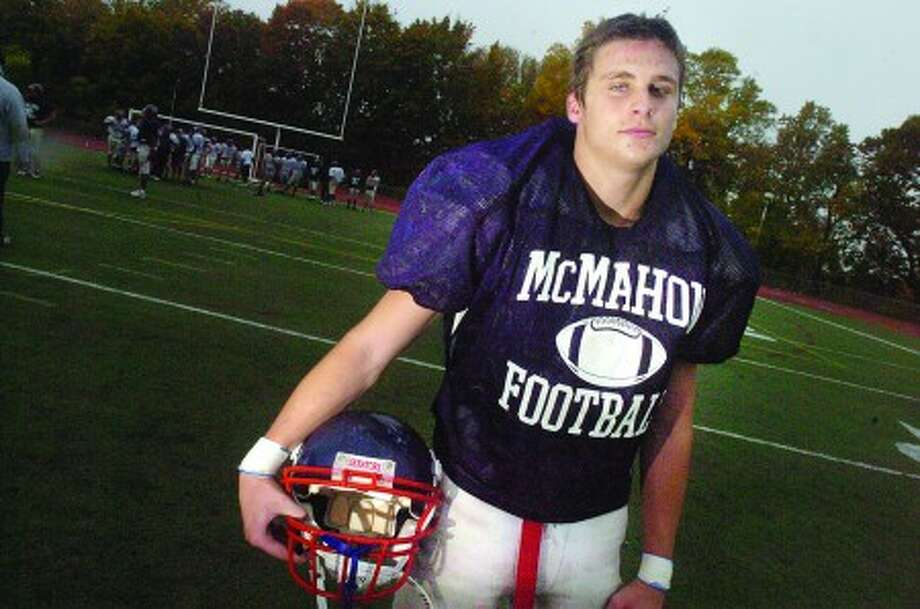 Zack O''Connor BMHS football. hour photo/matthew vinci