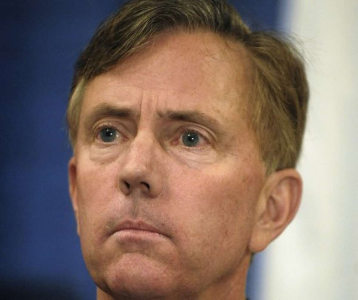 FILE - In this Jan. 20, 2010 file photo, Ned Lamont, listens to speakers at a bipartisan forum in Cromwell, Conn. Lamont, the political upstart who challenged U.S. Sen. Joe Lieberman four years ago, is expected to announce his bid for governor Tuesday, Feb. 16, 2010 at the Old State House in Hartford. (AP Photo/Jessica Hill, File)