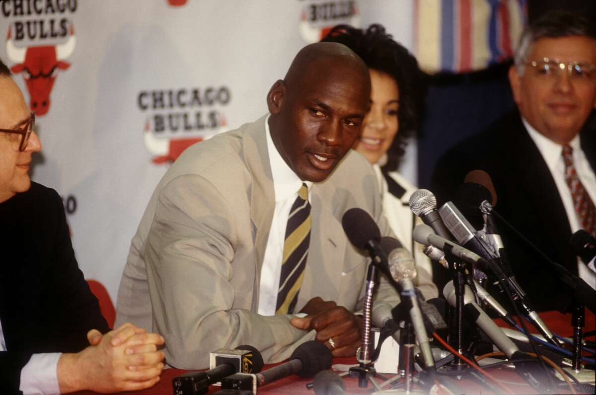 """Michael Jordan's retirement, 1993 This was shocking: Why would Jordan, fresh off his third consecutive championship with the Bulls and in the prime of his career, walk away (and to later play baseball)? The conspiracy theorists say MJ's """"retirement"""" was actually a suspension for his notorious gambling problems during the early 1990s. Of course, he came back in March 1995 and after retiring again in 1998, made another comeback in 2001 with the Wizards."""