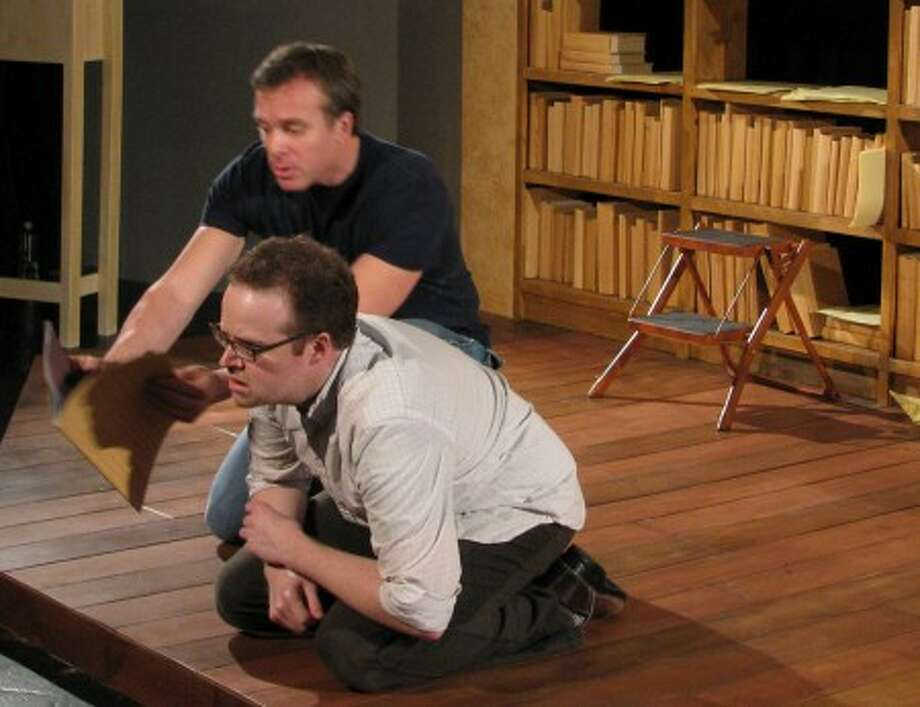 """Rob Sutton and Michael Di Liberto in """"The Story of My Life"""" at MTC MainStage in Westport, through Feb. 7. (contributed photo by David Heuvelman)"""