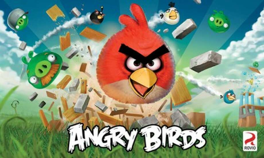 This undated image released by Rovio shows a poster of the company''s Angry Birds app. The exceptionally popular Angry Birds smart phone app has grown into a full-blooded pop cultural sensation, addicting mobile users at a rate nearly as impressive as the body count its animated slingshot birds are racking up against their swine enemy. (AP Photo/Rovio) NO SALES