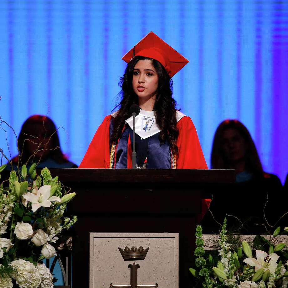 During her speech at this year's graduation ceremony at McKinney Boyd High School, in Plano, valedictorian Larissa Yanin Martinez announced that she's an undocumented immigrant. Photo: Jae S. Lee, TNS / Dallas Morning News