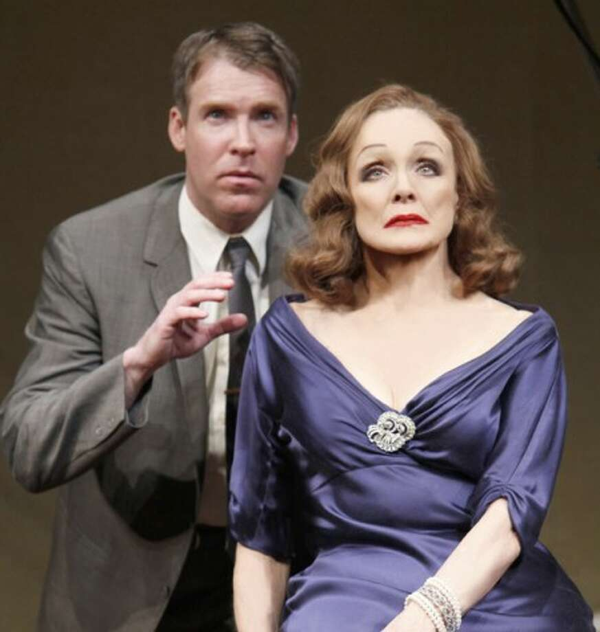 "Brian Hutchison, left, is Danny, and Valerie Harper portrays Tallulah Bankhead in Matthew Lombardo''s ""Looped,"" now playing at Broadway''s Lyceum Theatre in New York. (AP Photo/Boneau/Bryan-Brown, Carol Rosegg)"
