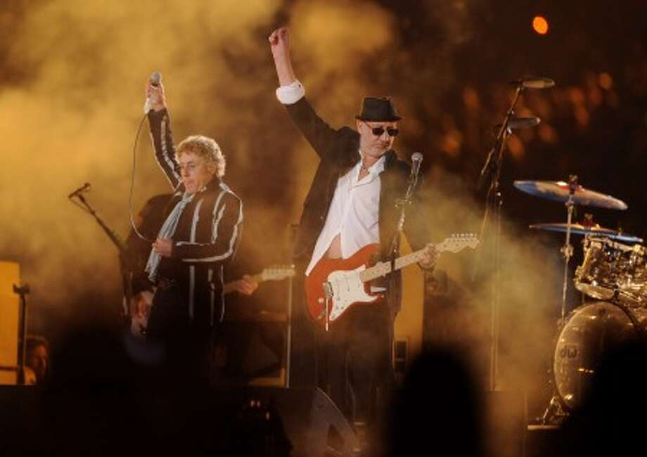 The Who''s Roger Daltrey, left, and Pete Townshend perform during halftime of the NFL Super Bowl XLIV football game in Miami, Sunday, Feb. 7, 2010. (AP Photo/Mark J. Terrill)