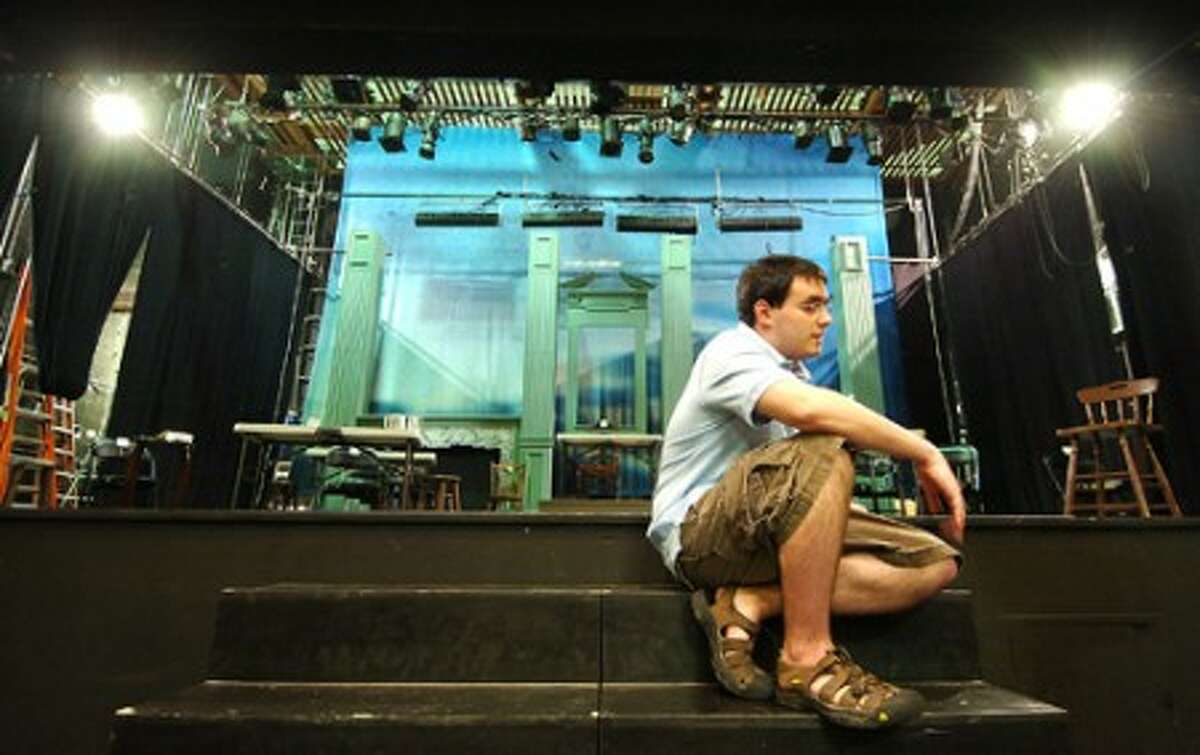 Photo/Alex von kleydorff. Sean Pultz suffers with Autism and is involved with the Curtain Call theater in Stamford.
