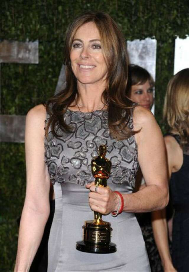 Director Kathryn Bigelow arrives at the Vanity Fair Oscar party on Monday, March 8, 2010, in West Hollywood, Calif. (AP Photo/Peter Kramer)