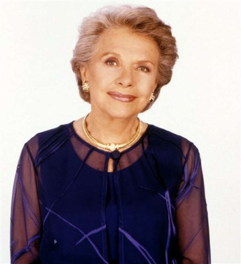 """Actress Helen Wagner, who played mild-mannered Nancy Hughes on the CBS soap opera """"As the World Turns"""" for more than a half-century and spoke its first words, died Saturday, May 1, 2010. She was 91. (AP Photo/TeleNext Media)"""