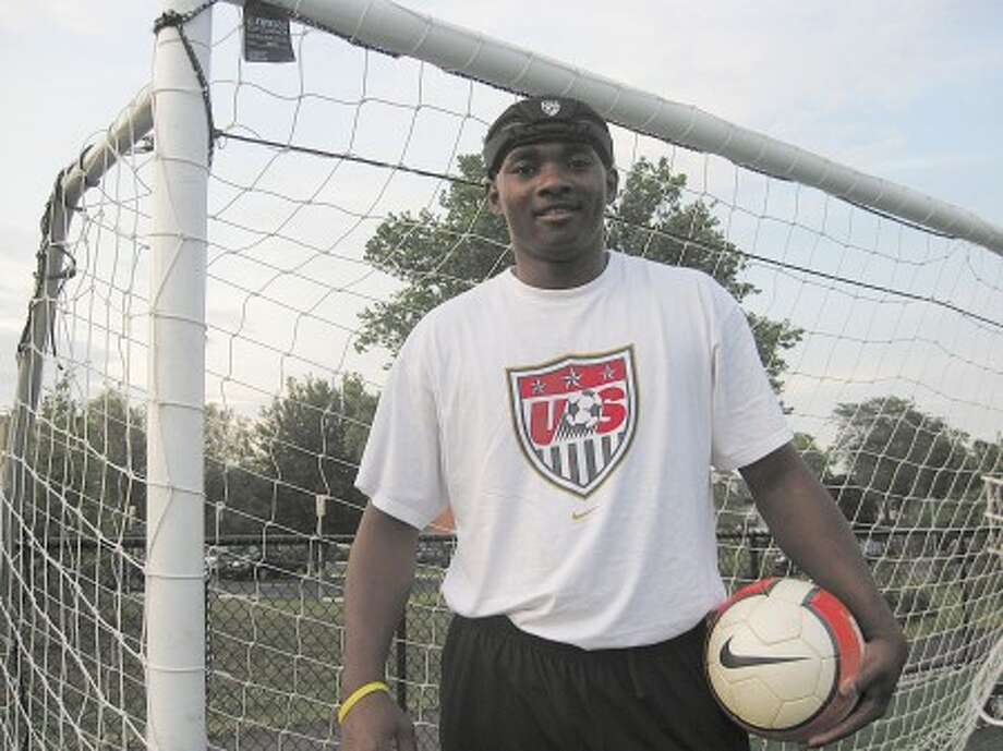 Stamford resident and Haitian native James Hilaire is trying out for the U.S. Paralympics Men''s Soccer Team. Photo by Tom Evans