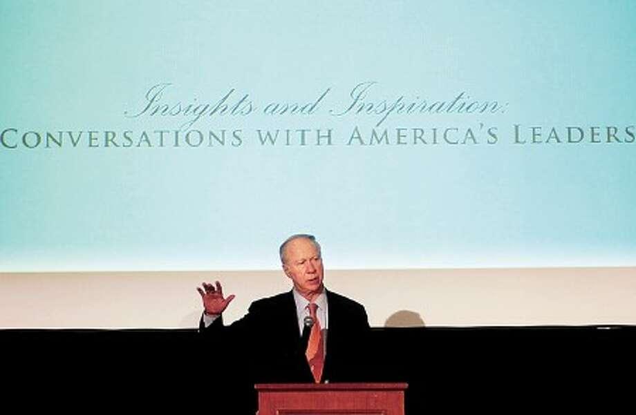 David Gergen, White House adviser to four presidents, speaks at Visiting Nurse & Hospice