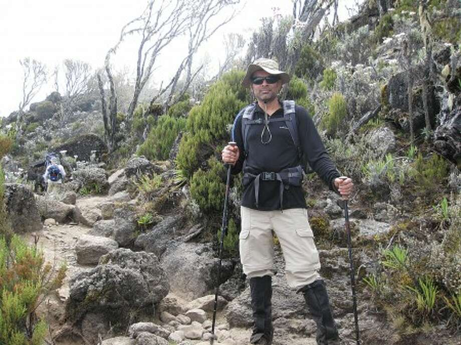 Wiltonian Kamran Aman climbing Mount Kilimanjaro. Contributed photo