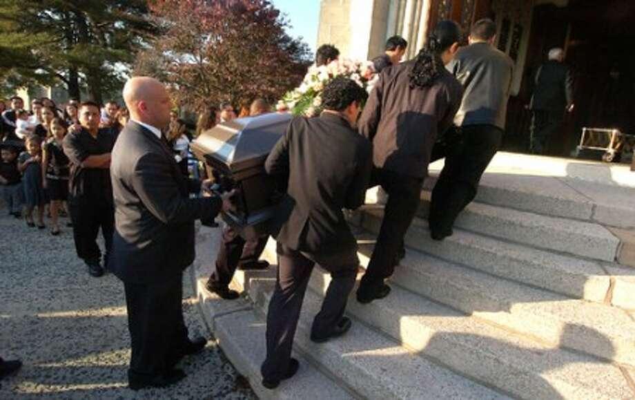 Photo/Alex von Kleydorff. Jose Morales funeral in Stamford, October 22 2009