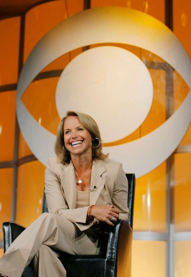 "This July 16, 2006 file photo shows Katie Couric, CBS News anchor and correspondent, answering questions about her upcoming season anchoring ""CBS Evening News with Katie Couric"" during a news conference in Pasadena, Calif. (AP Photo/Lucas Jackson, File)"