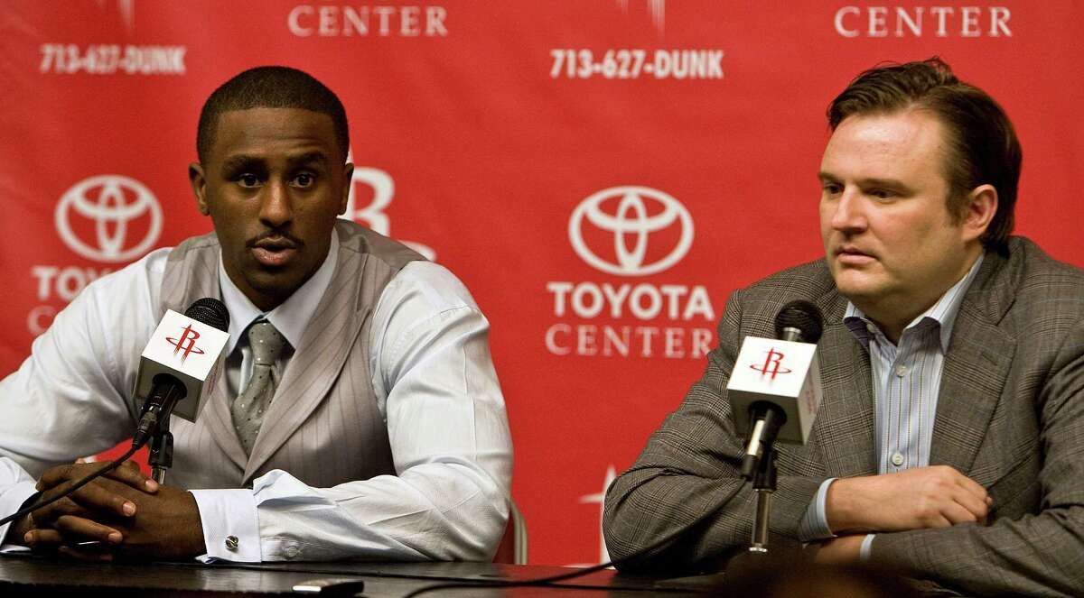 Patrick Patterson (left) was the first player selected in the lottery during Daryl Morey's tenure as general manager.