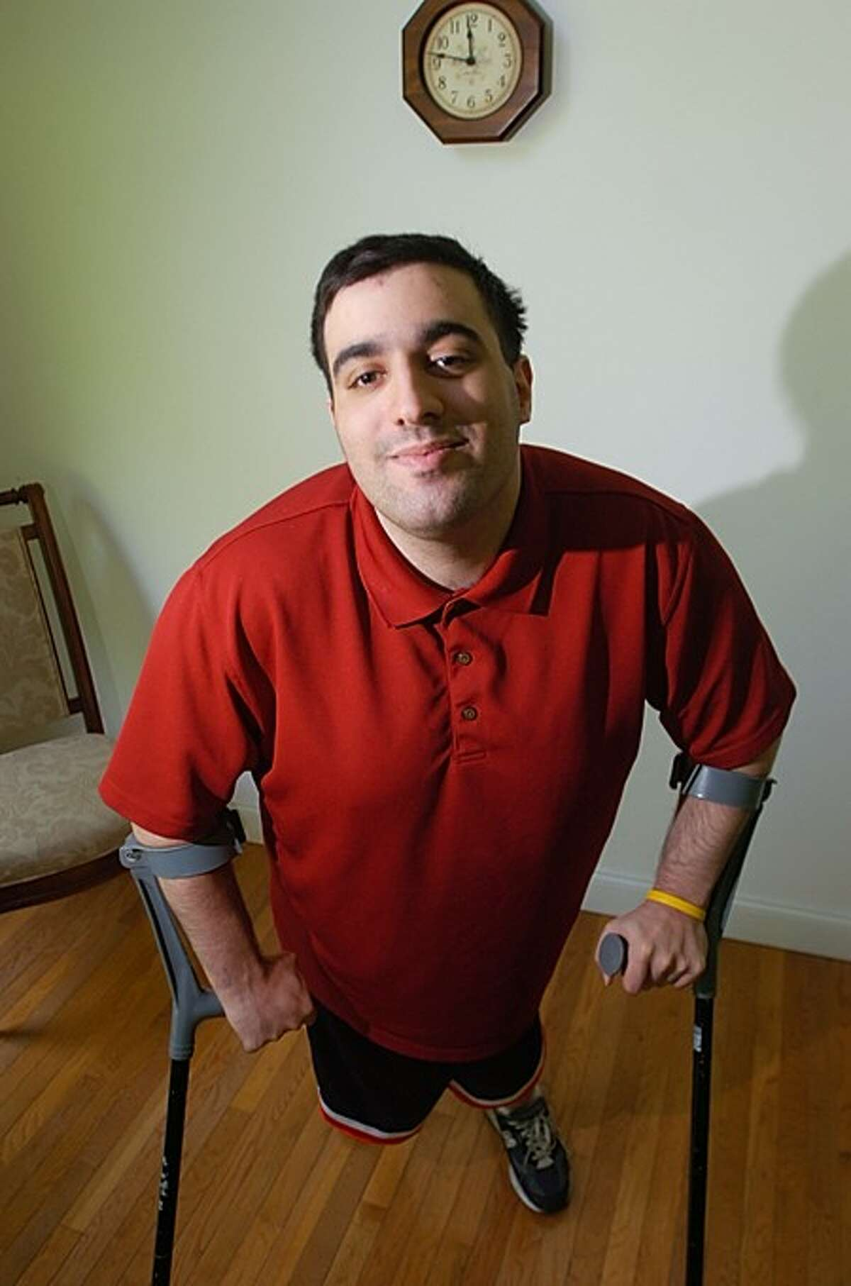 James Lacerenza is a 23-year-old with cerebral palsy competing for a $50,000 grant from Pepsi to send 70 kids with disabilities from the tri-state area to a week-long summer camp.