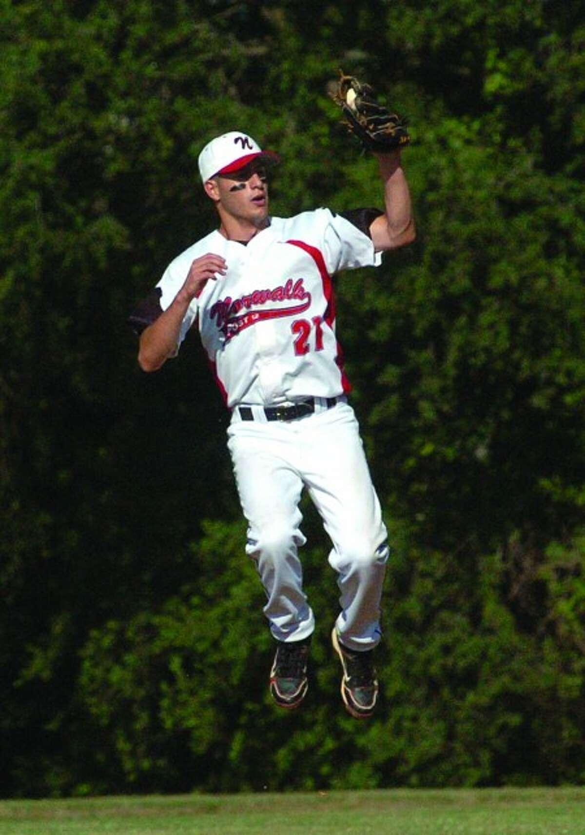Eric Stenger legion baseball vs. Darien. hour photo/matthew vinci