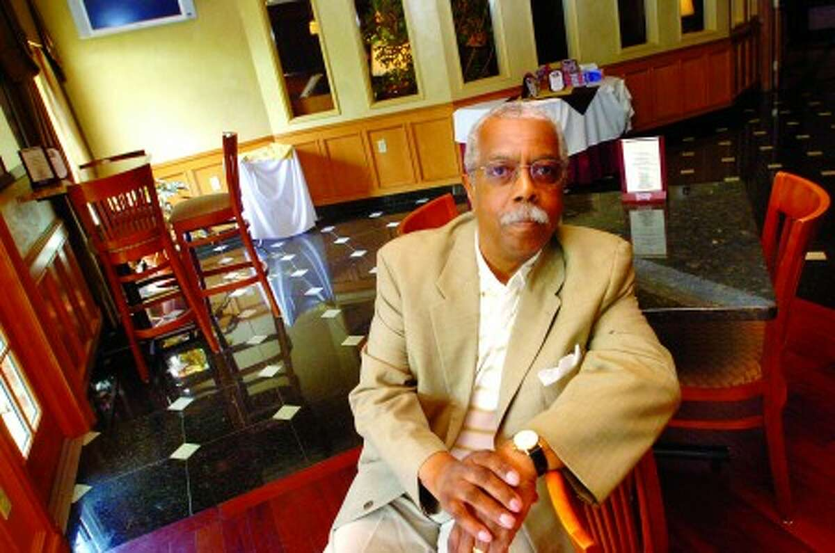 Herb Grant in the lounge of the Norwalk Inn and Conference Center where he will be promoting live jazz once week. hour photo/matthew vinci