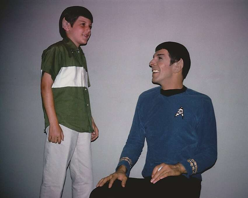 Young Adam Nimoy with his father, Leonard Nimoy, as seen in