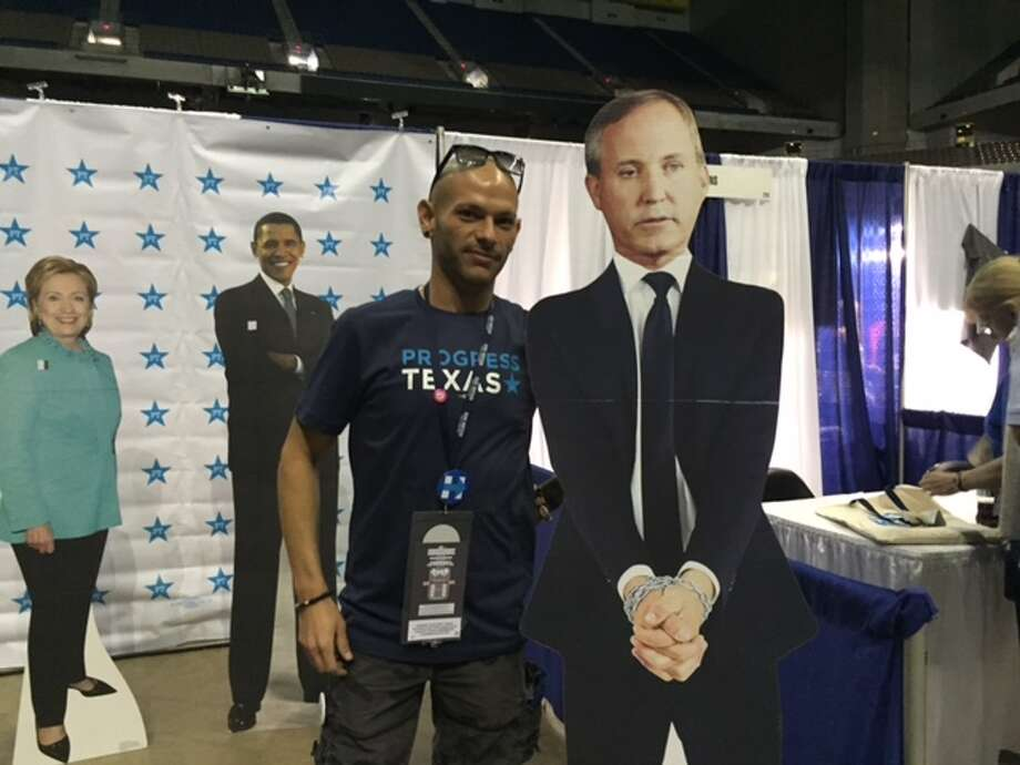 Democrats take photos at a booth run by Progress Texas at the Texas Democratic Convention in San Antonio on Friday, June 17, 2016. Photo: Kelsey Bradshaw/San Antonio Express-News