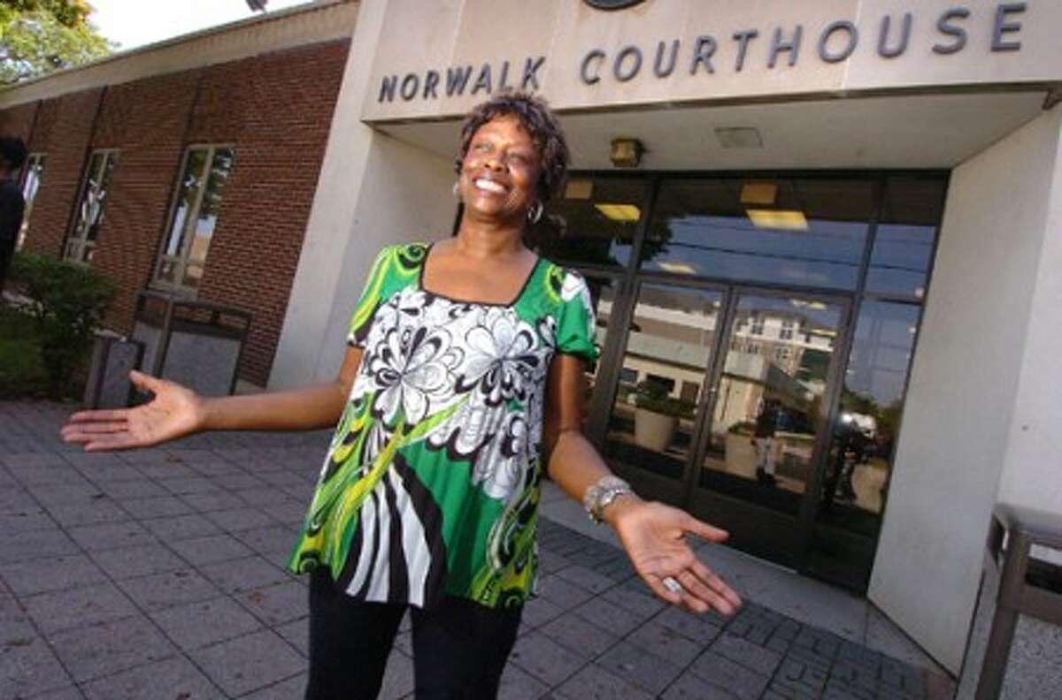 Photo/Alex von Kleydorff. Bail Bonds woman Mary Morrow .