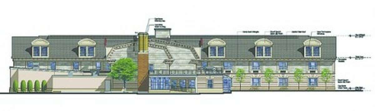 A view of the Norwalk Inn''s proposed exapansion from East AVenue.