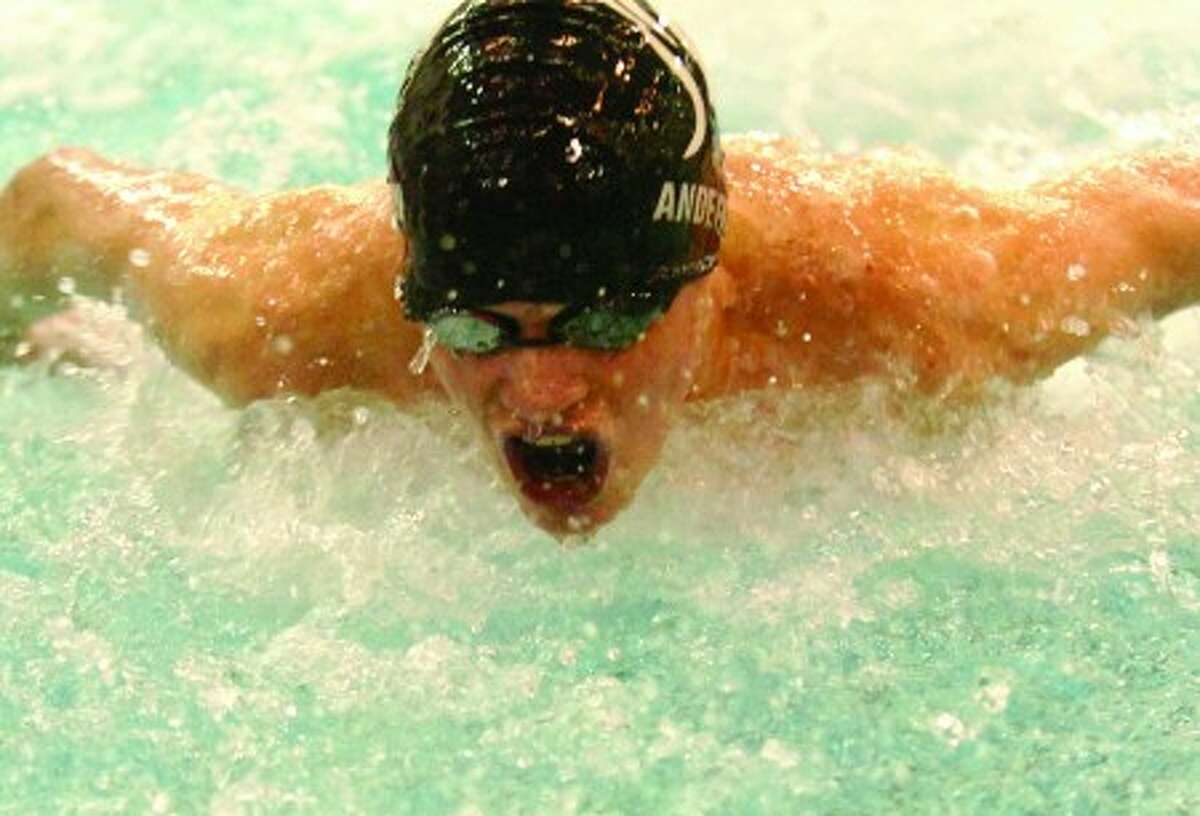 Westhill-Stamford boys swimmer Jeff Anderson. Times photo/Matthew Vinci