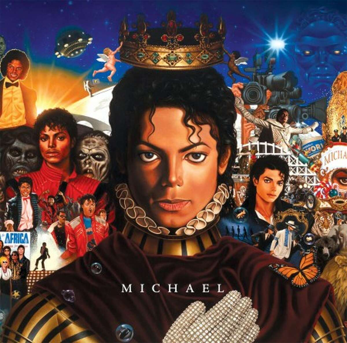 """In this CD cover image released by Epic Records, newly completed recordings from Michael Jackson entitled """"Michael,"""" is shown. (AP Photo/Epic Records)"""