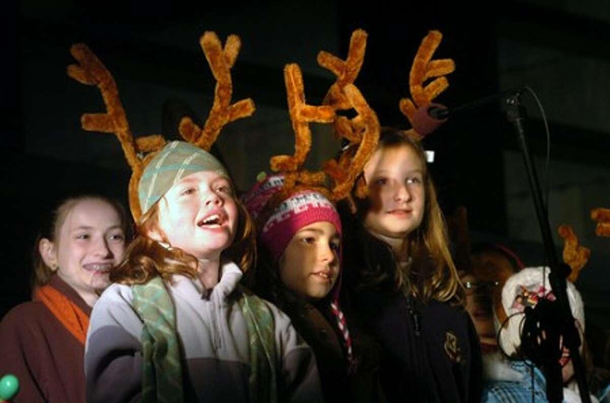 Photo/Alex von Kleydorff. The King School Choir performs at Heights and Lights in Stamford