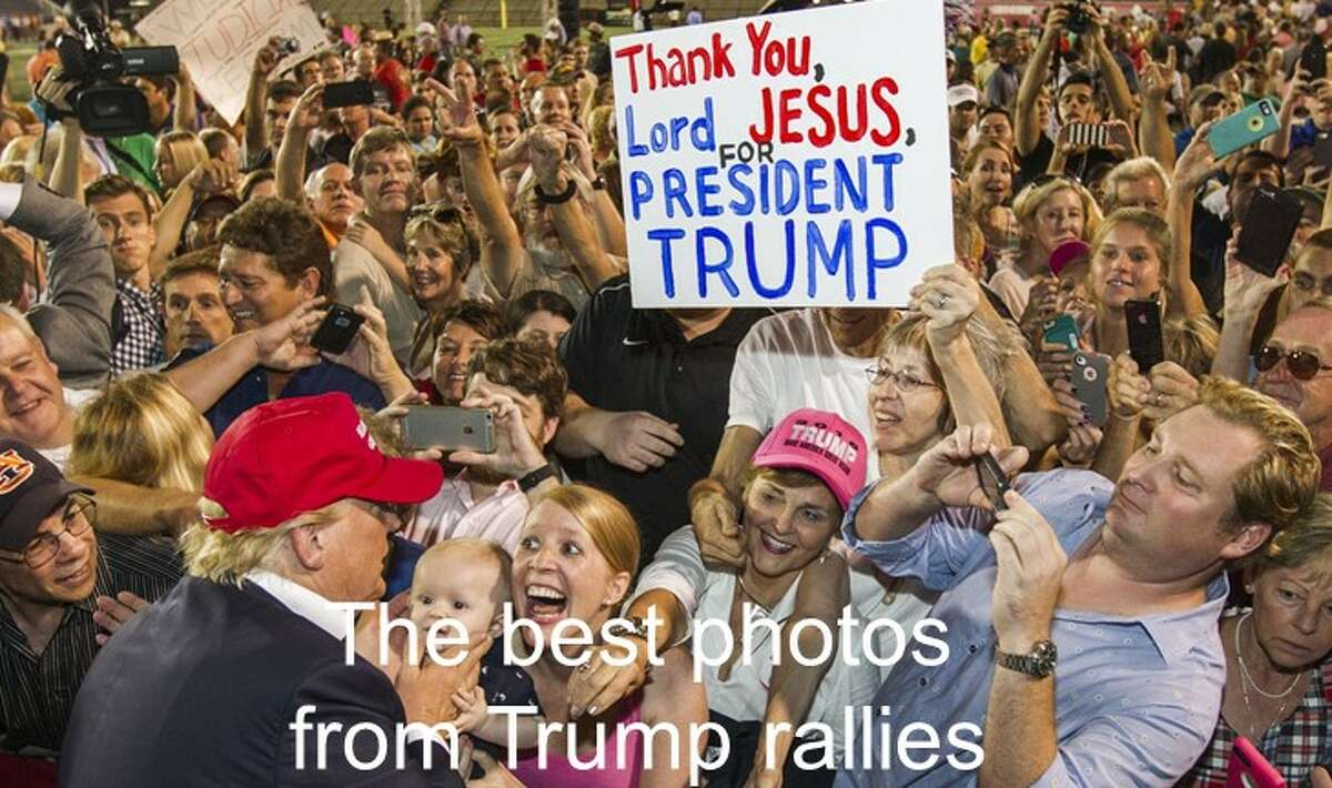 The best photos from Donald Trump rallies during his 2016 presidential campaign.