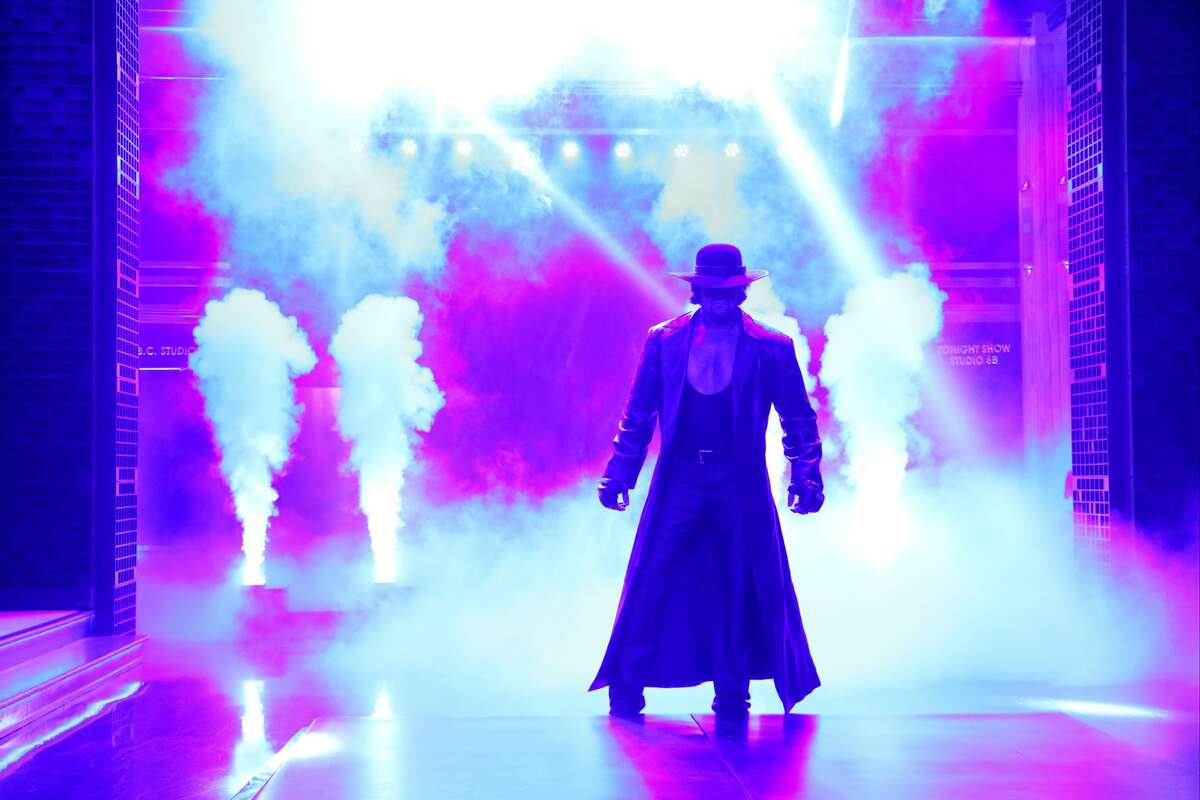The Undertaker Mark Callaway was born in Houston in 1965. Eight-time world champion in various leagues including four with the WWF/WWE. Biggest rivals: Tie - Mankind and Kane. Favorite finishing move: The Tombstone Piledriver.