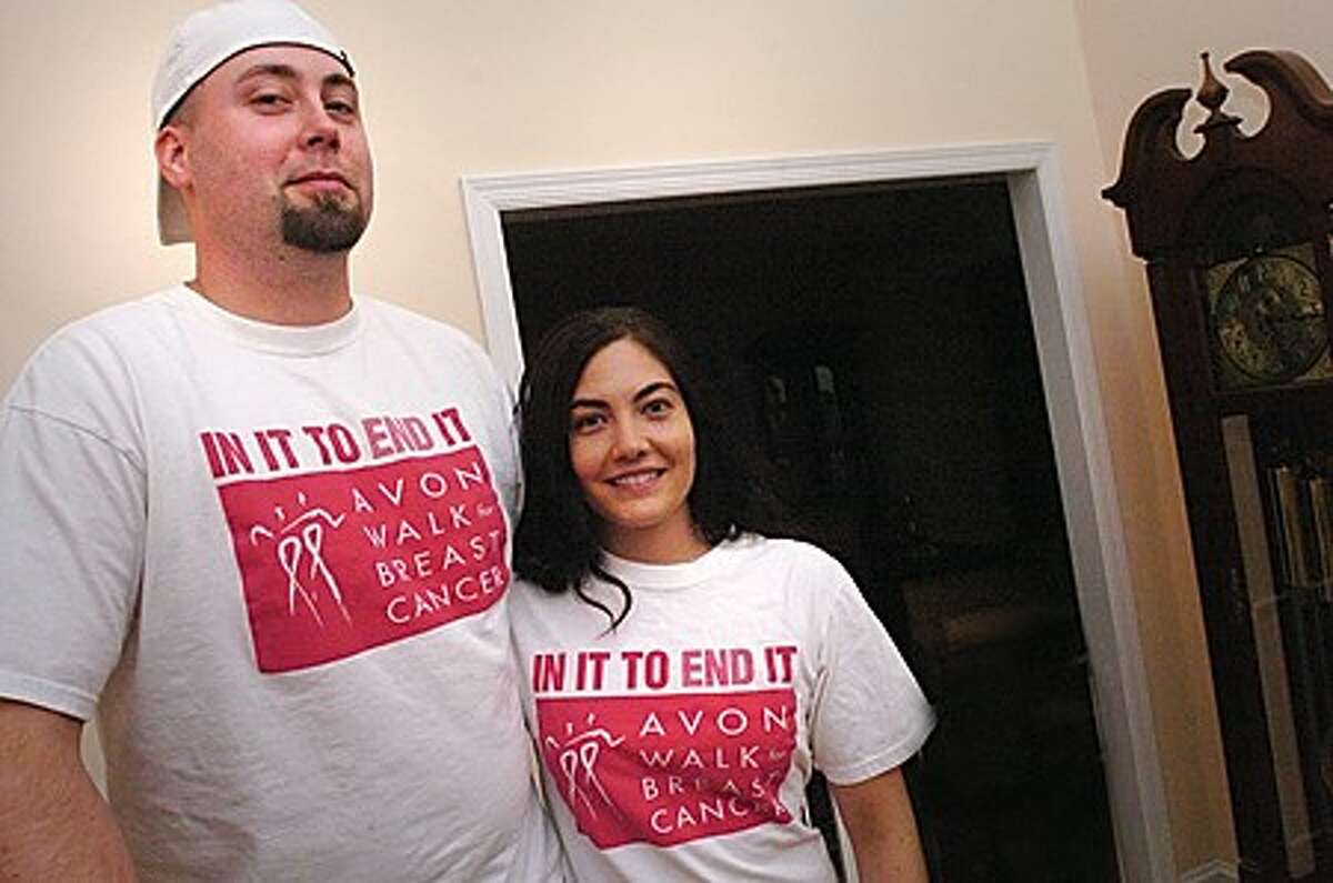 Chris and Jocelyn Mokos will be walking 40 miles in two days and they have raised more than $20,000.00 toward breast cancer research. hour photo/matthew vinci