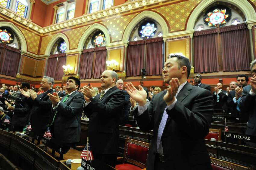 Connecticut's budget Connecticut's new budget doesn't implement any new taxes but contains cuts to numerous state departments. It also contains job cuts to state employees and a number of provisions. Act text