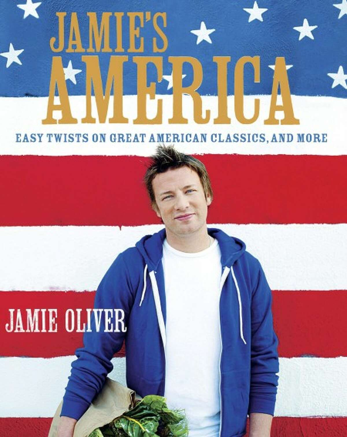 """This book cover image courtesy of Hyperion shows the cover of """"Jamie''s America: Easy Twists on Great American Classics, and More,"""" by chef Jamie Oliver. Oliver''s newest cookbook explores the rich diversity of America and its food. (AP Photo/Hyperion) NO SALES"""