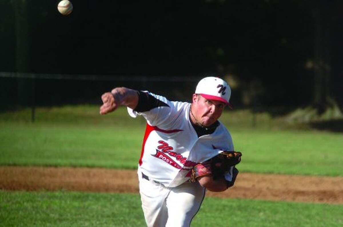 Norwalk starting pitcher vs. Greenwich, Andrew Merritt. hour photo/matthew vinci