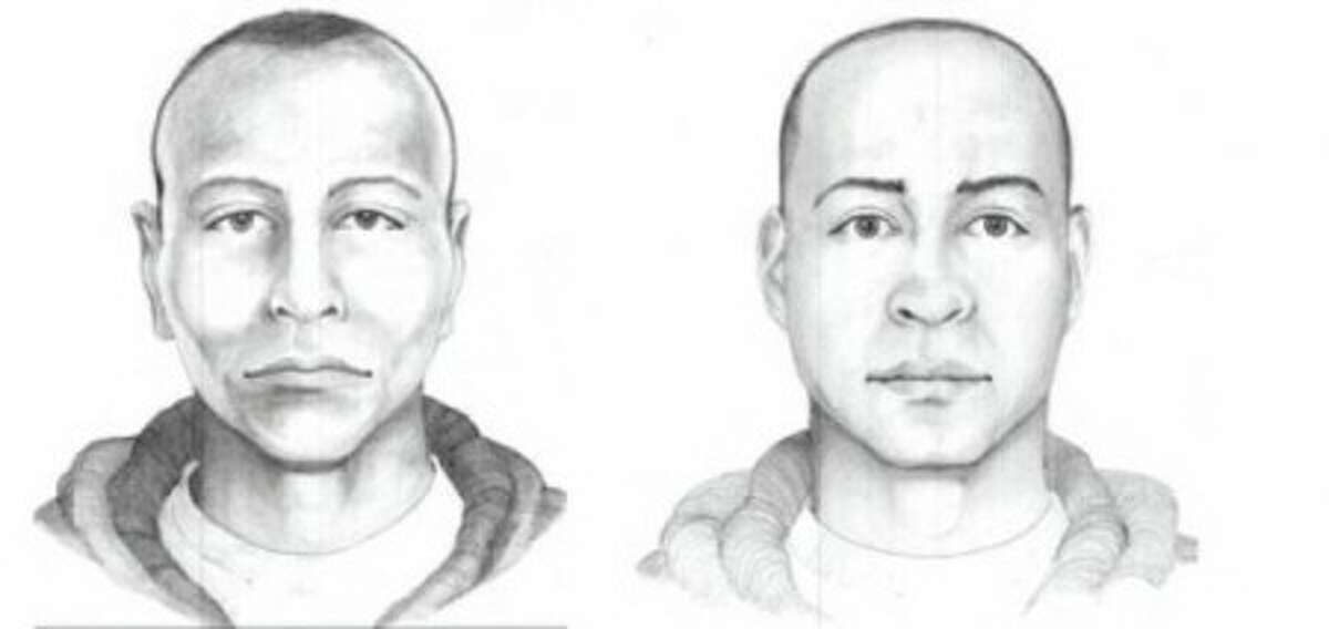 Individual sketches of the suspect as described to police by the manager and the bartender. Contributed image.