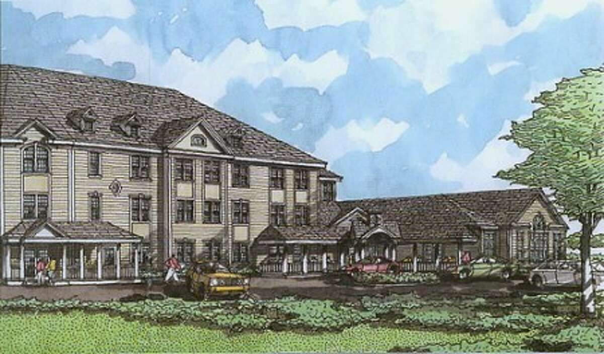 A rendering of Wilton Commons, an affordable, senior housing facility planned for 4.5 acres near the Wilton Train Station.