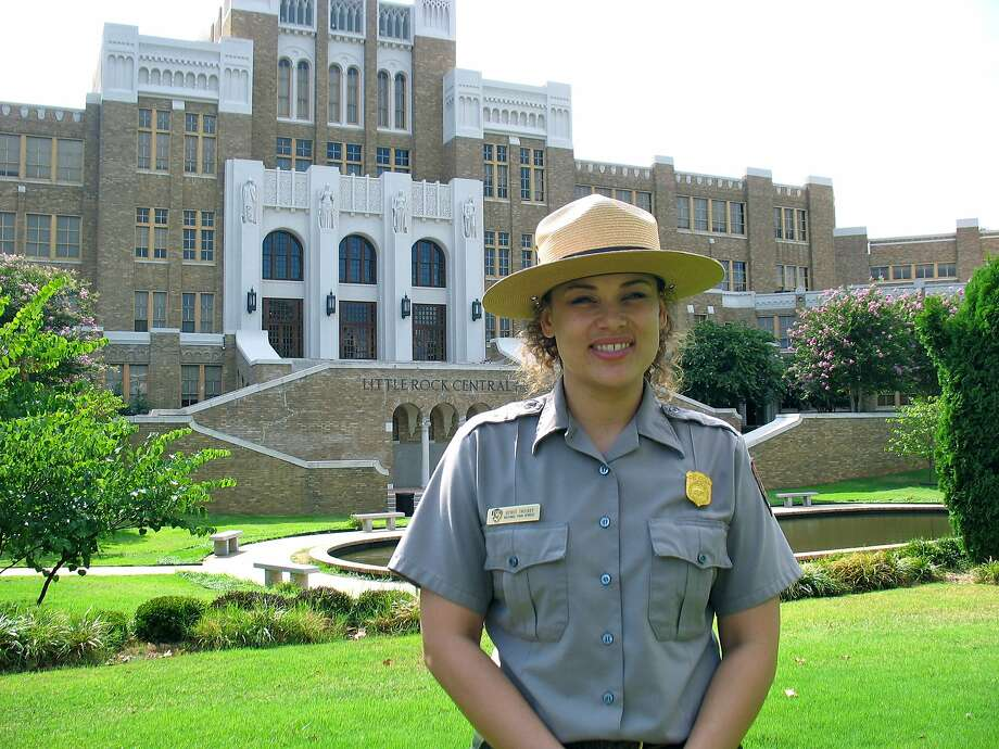 Spirit Trickey was a park service ranger at the Central High School National Historic Site in Little Rock, Ark. Her mother was one of the Little Rock 9. Trickey now works at the Smithsonian Institution. Photo: Betty Luman, Houston Chronicle