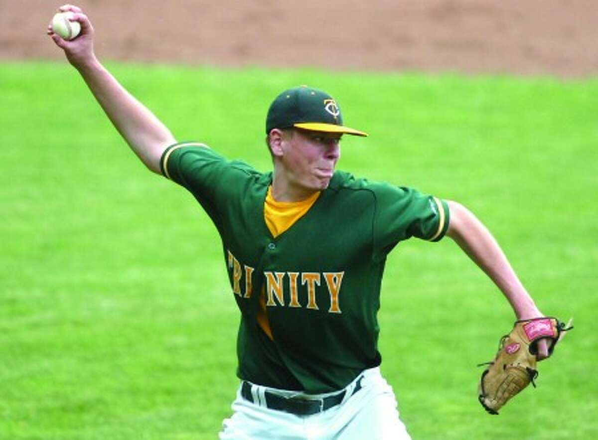 Trinity Catholic pitcher Ryan Walsh. Times photo/Matthew Vinci