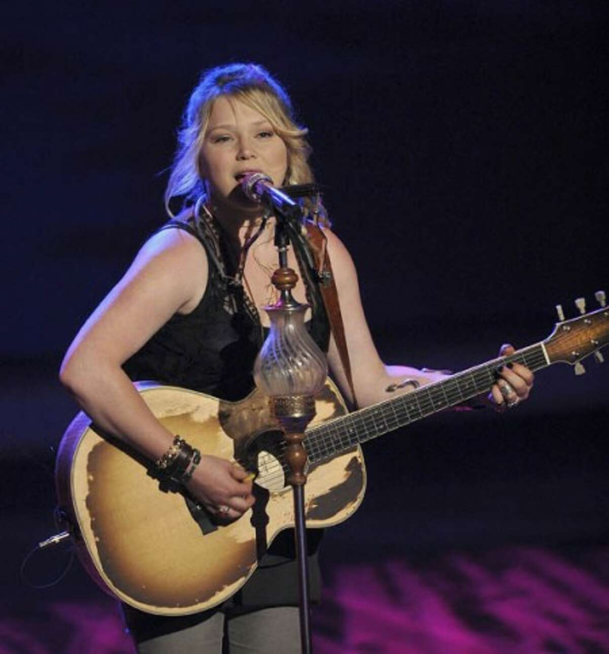 Contestant Crystal Bowersox performs on the singing competition series,