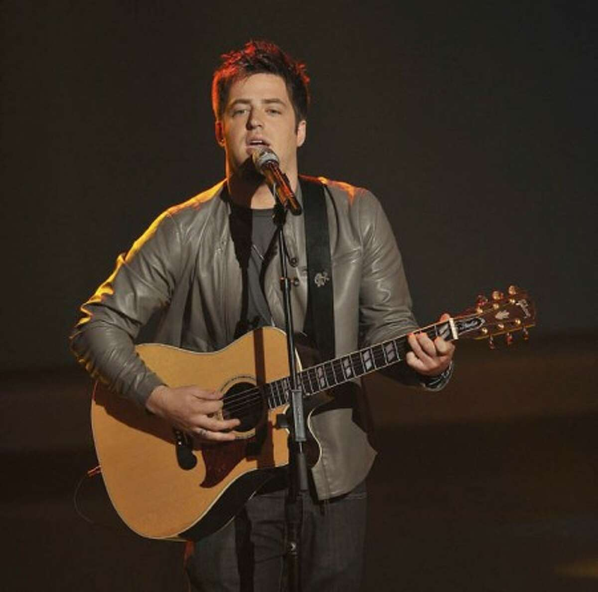 Lee DeWyze performs on the singing competition series,