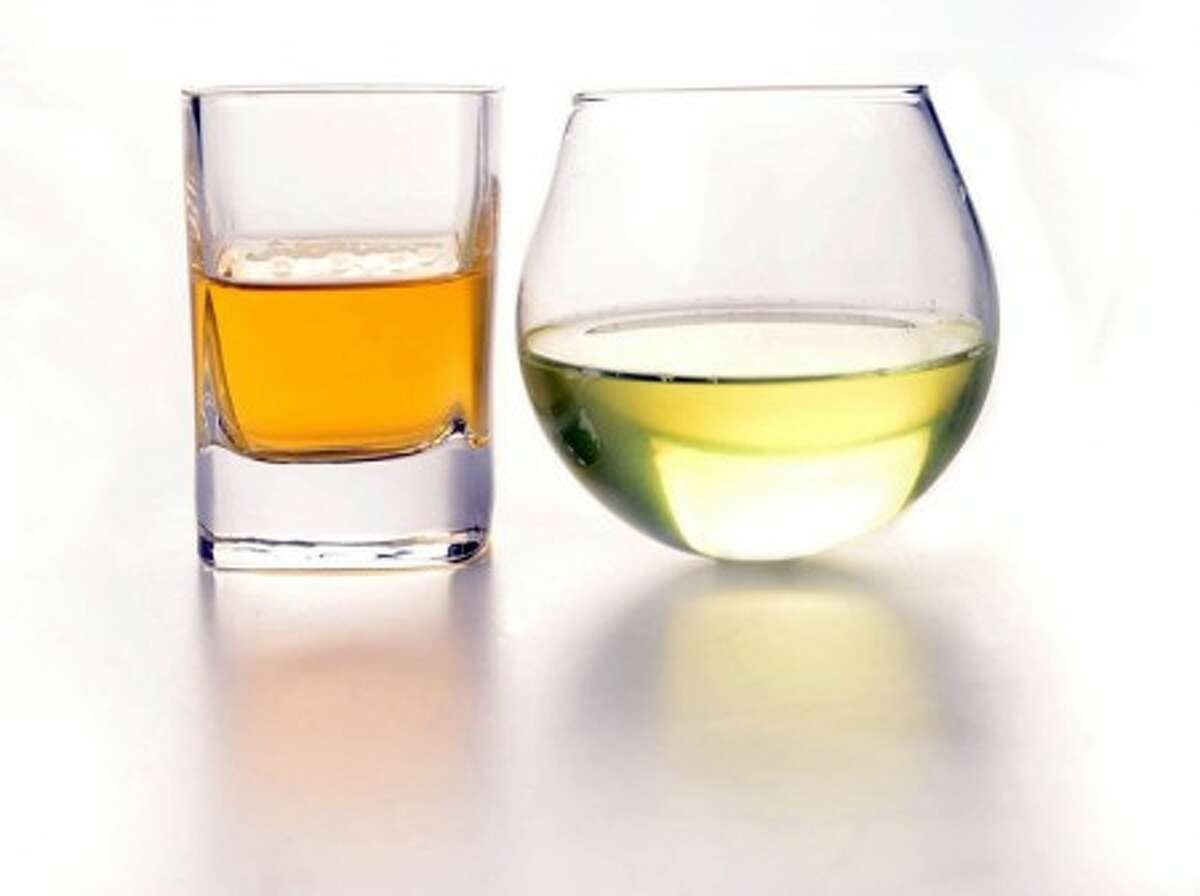 The author''s choice: a shot of Irish whiskey with a pickle juice chaser. (The Washington Post/Linda Davidson)
