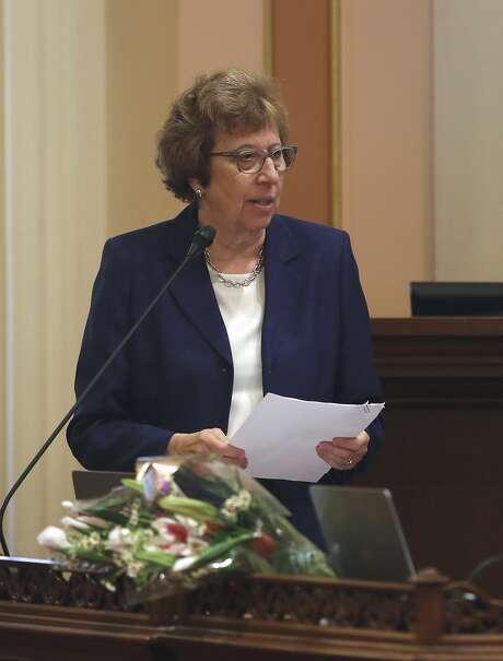 State Sen. Lois Wolk, D-Davis, argued for the gun-research funding last week. Photo: Rich Pedroncelli, Associated Press