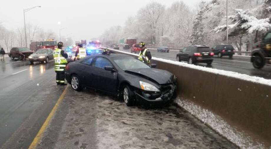 At approximately 7 a.m. the Westport Fire Department responded with State Police and Westport EMS to I-95 northbound between exits 17 and 18 near the Hales Road overpass for a two car motor vehicle accident with injuries.